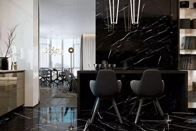 Nero Margiua Natural Marble Tile And Marble Slab Bathroom Wall Covering